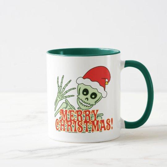 Merry Xmas Skeleton Mug