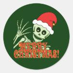 Merry Xmas Skeleton Sticker