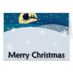 Merry Xmas Snowing Scene Cards