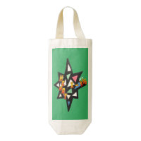 Merry Xmas Star Customizable Wine Bag