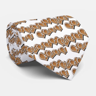 Merry Xmas text on gingerbread hearts Tie