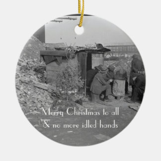 Merry Xmas to All & No More Idled Hands Ornament