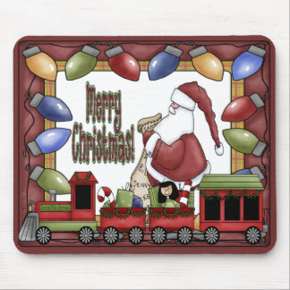 Merry Xmas Train Mouse Pad