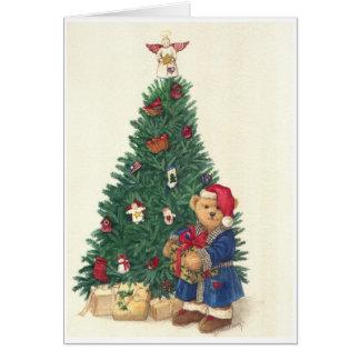 MERRY XMAS TREE BEAR CARD