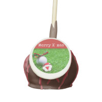 Merry X'mas with Santa and golf ball Cake Pops