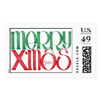 Merry Xmas with Santa's signature Postage