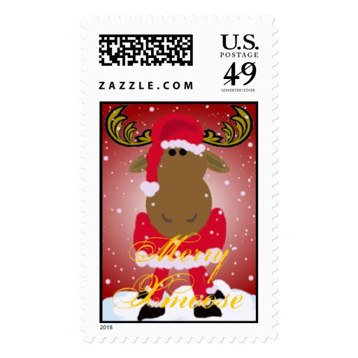 Merry Xmoose Postage Stamps