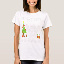 Merry Yeti Christmas Holiday trendy Graphic Tee
