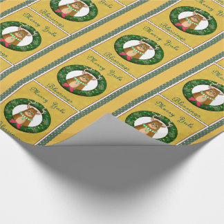 Merry Yule Blessings Stag Wrapping Paper