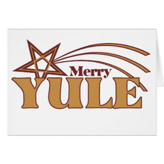 Merry Yule Greeting Card