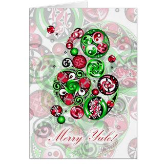 Merry Yule Celtic Clockwork Card