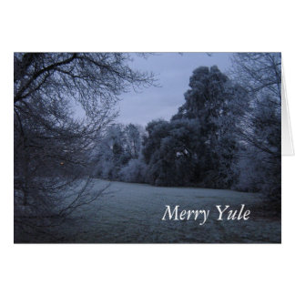 Merry Yule frost Cards