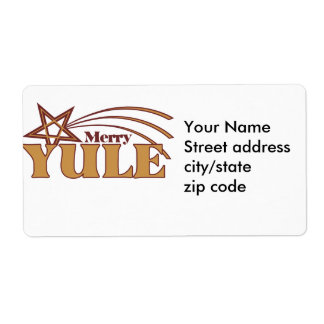 Merry Yule Shipping Labels