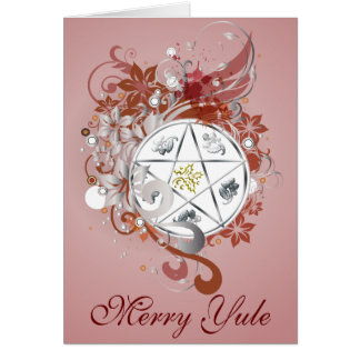 Merry Yule Pentagram Cameo Card - 10