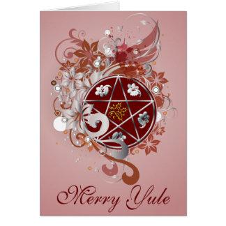 Merry Yule Pentagram Cameo Card - 10B