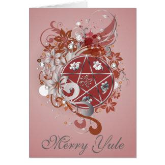 Merry Yule Pentagram Cameo Card - 11B