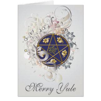 Merry Yule Pentagram Cameo Card - 1B