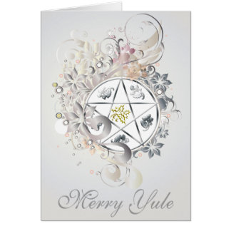 Merry Yule Pentagram Cameo Card - 2