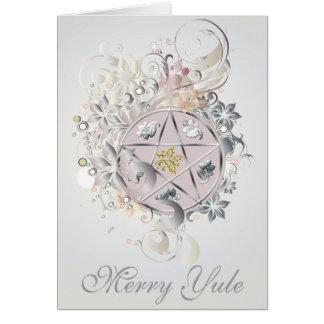 Merry Yule Pentagram Cameo Card - 2B