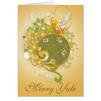 Merry Yule Pentagram Cameo Card - 5B