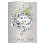Merry Yule Pentagram Cameo Card - 6
