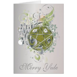 Merry Yule Pentagram Cameo Card - 6B