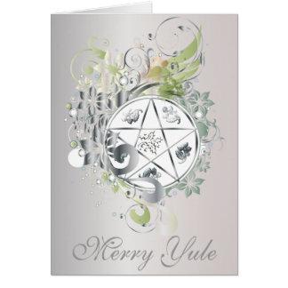 Merry Yule Pentagram Cameo Card - 7