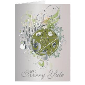 Merry Yule Pentagram Cameo Card - 7B