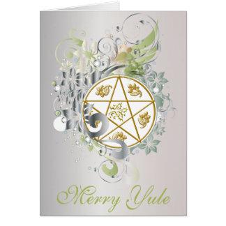 Merry Yule Pentagram Cameo Card - 8