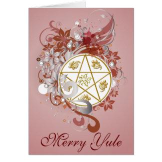 Merry Yule Pentagram Cameo Card - 9