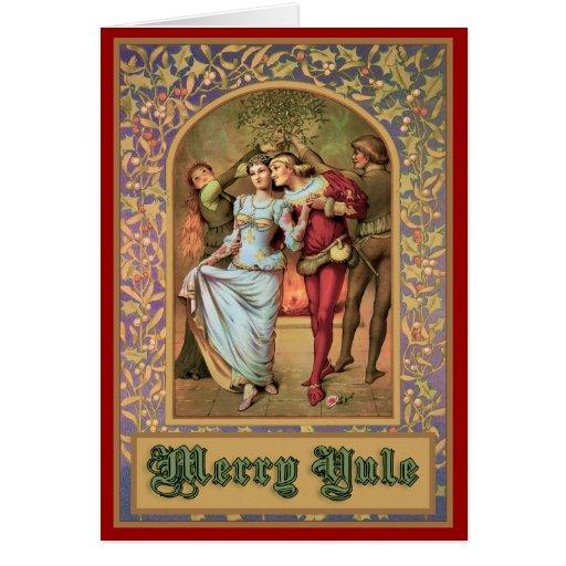 Merry Yule - Vintage Medieval Greeting Card