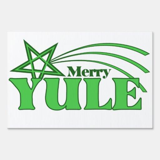 Merry Yule Yard Sign