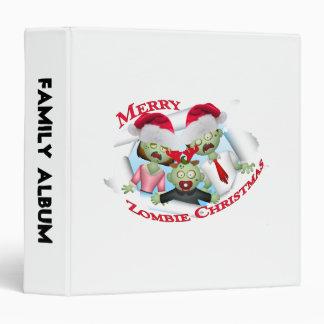 Merry Zombie Family Christmas Binder