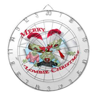 Merry Zombie Family Christmas Dartboards