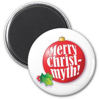 MerryChristmyth.ai Refrigerator Magnet