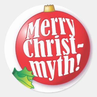 MerryChristmyth.ai Round Sticker