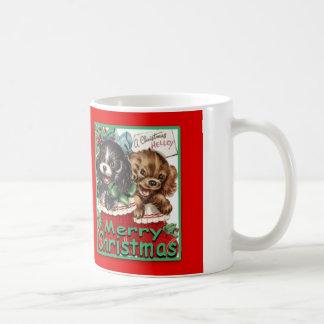 MerryChrsmsPuppies-ClassicWhiteMug 11oz Taza