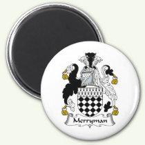 Merryman Family Crest Magnet