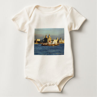 Mersey Ferry & Liverpool Waterfront Baby Bodysuit