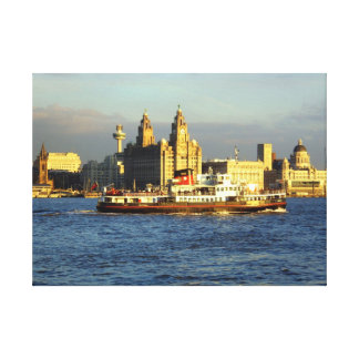 Mersey Ferry & Liverpool Waterfront Canvas Print