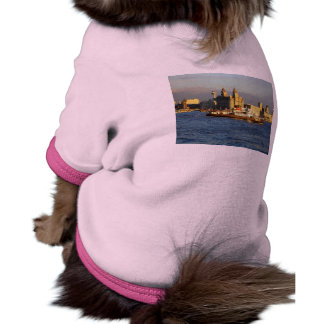 Mersey Ferry & Liverpool Waterfront, Liverpool UK Dog Tee Shirt