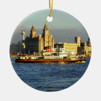 Mersey Ferry & Liverpool Waterfront Christmas Ornaments