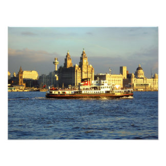 Mersey Ferry & Liverpool Waterfront Photo Print