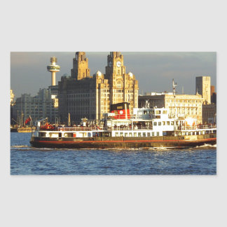 Mersey Ferry & Liverpool Waterfront Rectangle Sticker