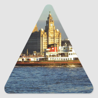 Mersey Ferry & Liverpool Waterfront Triangle Sticker