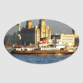 Mersey Ferry & Liverpool Waterfront Oval Stickers