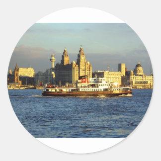 Mersey Ferry & Liverpool Waterfront Round Sticker