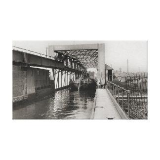 Mersey flat on the Barton Aqueduct Canvas Print