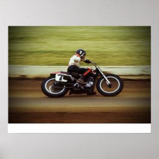 MERT LAWWILL POSTER - 1972 FLAT TRACK RACE