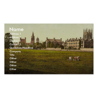 Merton and Christ Church College, Oxford, England Business Cards